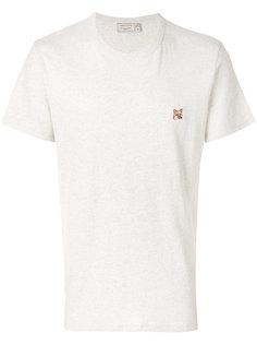 футболка с нашивкой лисы Maison Kitsuné