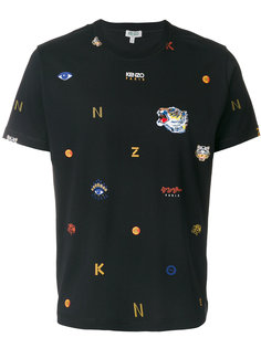 футболка с принтом тигров Kenzo