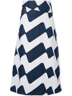 полосатая юбка Victoria Beckham