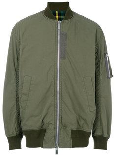 куртка-бомбер с контрастной подкладкой Sacai