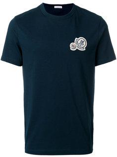 футболка с круглым вырезом и заплаткой с логотипом Moncler