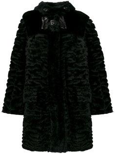 пальто с пряжкой и бантом  Fendi