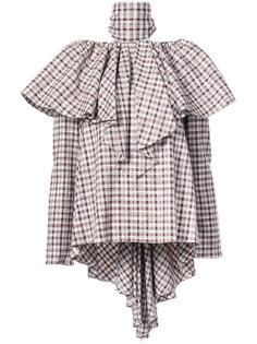 блузка в клетку с оборками Rosie Assoulin