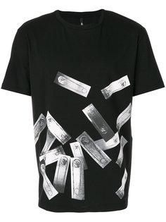 футболка с принтом булавок Versus