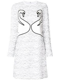 платье с лебедями Victoria Victoria Beckham