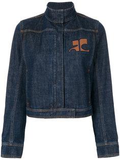 джинсовая куртка с высоким воротом  Courrèges