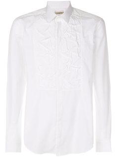 рубашка с жатой отделкой спереди Rochas