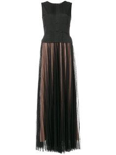 длинное плиссированное платье  Twin-Set
