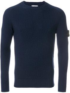 трикотажный приталенный свитер Stone Island