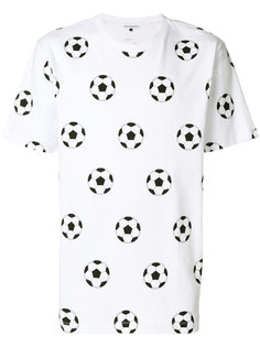 футболка с принтом мячей Gosha Rubchinskiy ГОША РУБЧИНСКИЙ