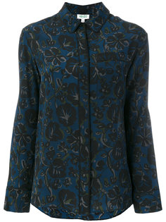 рубашка с цветочным узором  Kenzo