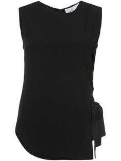 Sleeveless Asymmetric Top With Lacing Derek Lam 10 Crosby