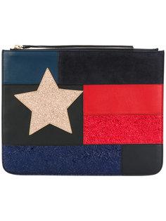 клатч с флагом в стиле пэчворк Hilfiger Collection