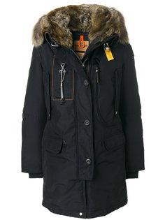 пальто с капюшоном и отделкой из искусственного меха  Parajumpers