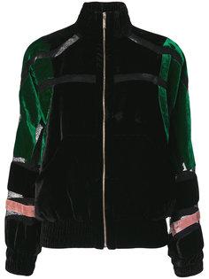 бархатная куртка-бомбер Elie Saab