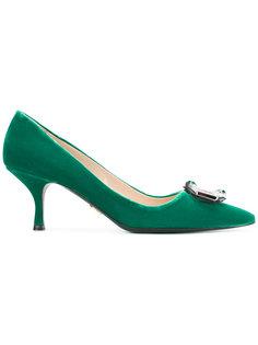 туфли-лодочки с пряжкой спереди Prada