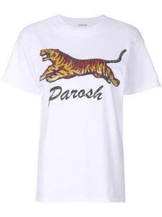 футболка с принтом тигра P.A.R.O.S.H.
