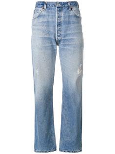 прямые джинсы с завышенной талией  Re/Done