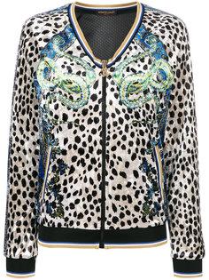 спортивная куртка cheetah chenille Roberto Cavalli