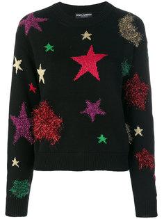 свитер со звездами Dolce & Gabbana
