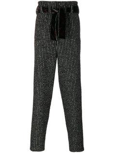 полосатые брюки с поясом Damir Doma