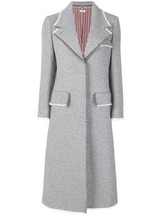 пальто с необработанными краями на пуговицах Thom Browne