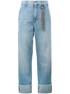 широкие джинсы с отворотами  Mira Mikati