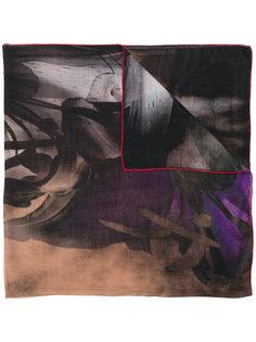 шарф с контрастной окантовкой Ermanno Gallamini