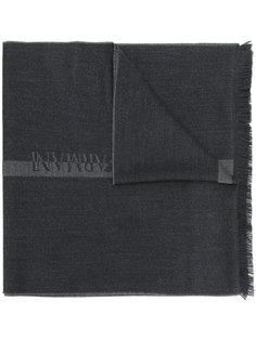 жаккардовый шарф с логотипом Emporio Armani