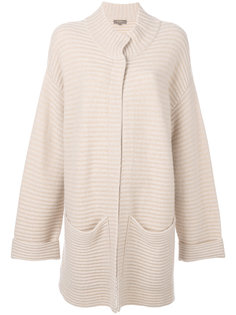 двухцветное пальто-кардиган N.Peal