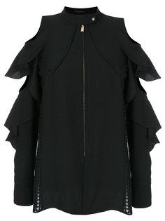 блузка с вырезными деталями и оборками Versace