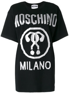 футболка с логотипом и принтом  Moschino