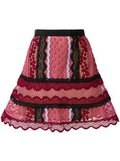 кружевная А-образная юбка  Self-Portrait