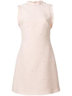 платье с жемчугом и кристаллами Miu Miu