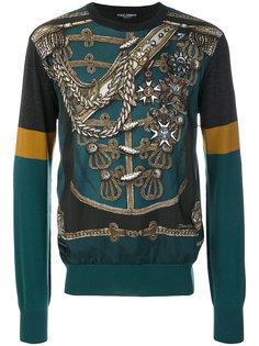"""джемпер с принтом """"милитари"""" Dolce & Gabbana"""