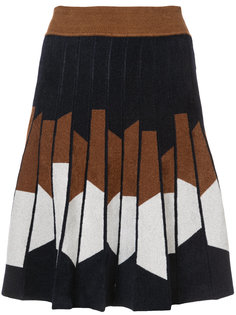 юбка с геометрическим принтом Yigal Azrouel