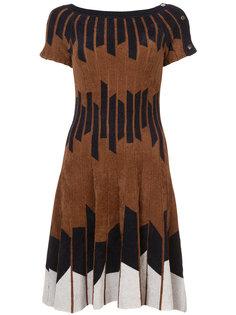 Geometric Chenille Knit Dress Yigal Azrouel