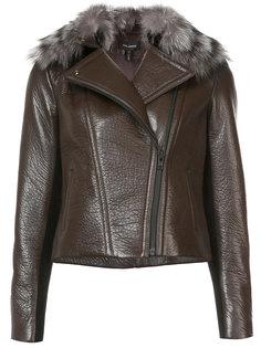 faux fur-trim jacket Yigal Azrouel