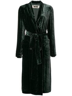 бархатное пальто с завязками на талии Uma Wang