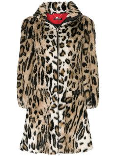 леопардовое пальто А-образного силуэта Twin-Set