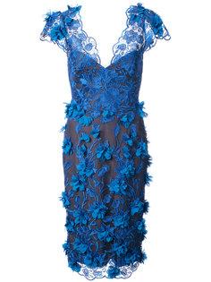 embellished V-neck dress Marchesa Notte