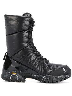 ботинки с ребристой подошвой Premiata