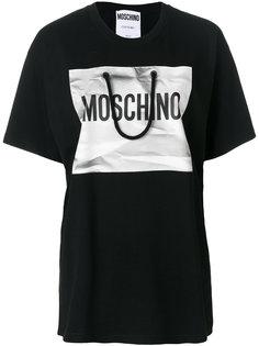 футболка с деталью в форме шоппера Moschino