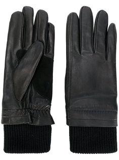 кожаные перчатки Ami Alexandre Mattiussi
