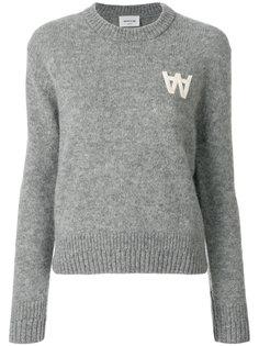 свитер с длинными рукавами с логотипом Wood Wood