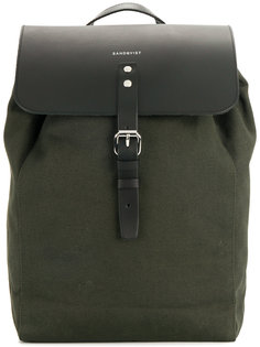 рюкзак с кожаным клапаном  Sandqvist