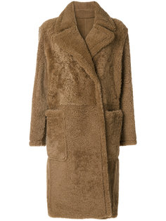 свободное пальто из овечьей шерсти  Yves Salomon