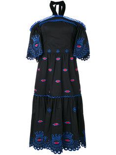 платье с открытыми плечами Calligraphy Temperley London