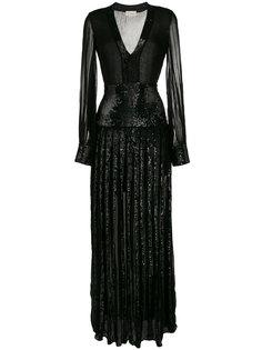 платье с панельным дизайном и пайетками Temperley London