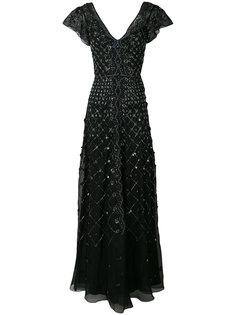 декорированное вечернее платье с V-образным вырезом Temperley London